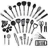 JETZT NEU - 42 teiliges-Set von KRONENKRAFT, Küchenhelfer Set aus Edelstahl und Nylon Kochen Tools...